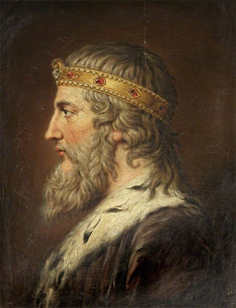 According to the research paper, the legendary naval prowess associated with Alfred the Great, seen here in a 1790 portrait by Samuel Woodforde, has been exaggerated in popular historic memory. (Public domain)