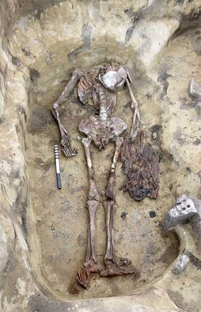 30 – 40 bird beaks and heads were found in another unique Odinov burial. (Novosibirsk Institute of Archeology and Ethnography/ The Siberian Times)