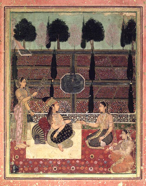 Idealized depiction of life in the Mughal harem, where Jahanara and Roshanara spent most of their lives. (Public domain)