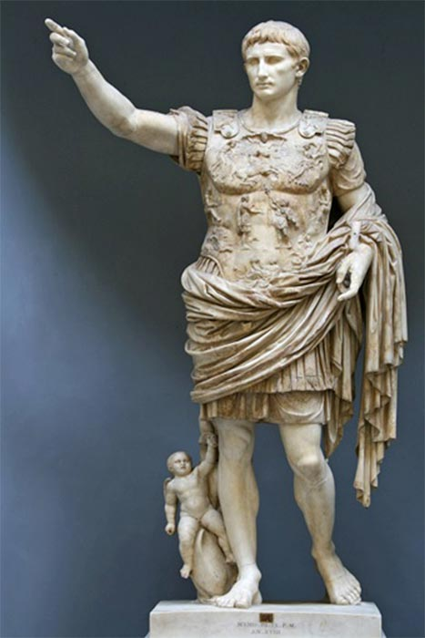 Augustus of Prima Porta (First Century) Vatican Museums (Public Domain)
