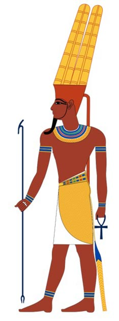 Typical depiction of the ancient Egyptian god Amun. (Jeff Dahl / CC BY-SA 4.0)