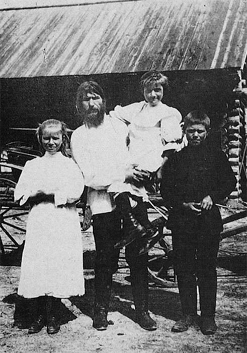 Rasputin with his children (Public Domain)