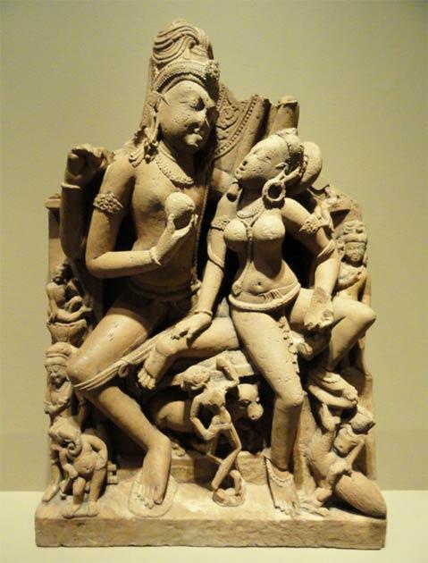 Shiva and Parvati, Gurjara-Pratihara Dynasty of Kannauj, Uttar Pradesh, India, 9th to early 10th century, Nelson-Atkins Museum of Art. (Daderot / CC0)
