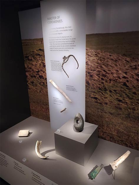 The researchers looked at grave goods, such as these findings from Wilsford near Stonehenge. This burial included a rare human bone turned into a flute. (Credit: Wiltshire Museum/David Dawson)
