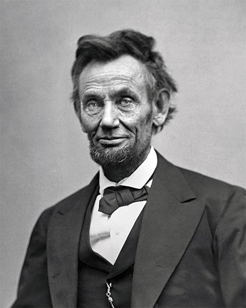 There are 130 known photographs of President Abraham Lincoln, including this one taken just two months before his death. (Public domain)