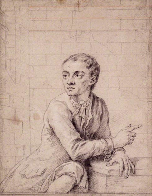 Sketch of 18th-century thief Jack Sheppard shortly before his execution in 1724. (Public Domain)