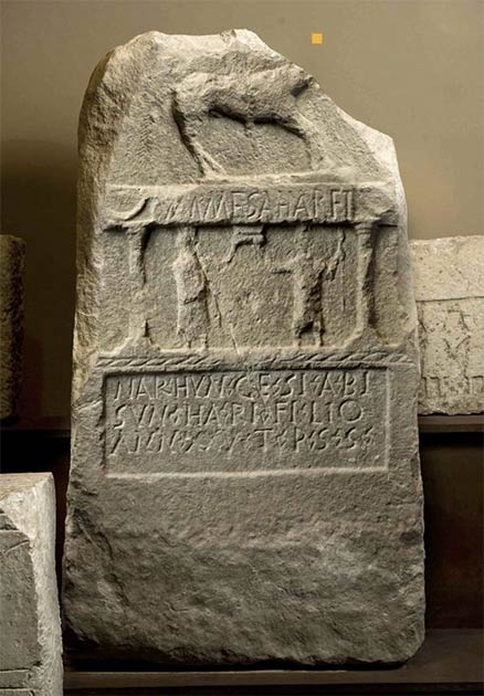 An ancient inscription written in proto-Basque. (Nafarroako Gobernua - Gobierno de Navarra / CC BY-SA 4.0)
