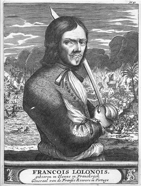 François l'Olonnais: The famous pirate of France who was bloodthirsty and was eaten by cannibals in the end. (Public domain)