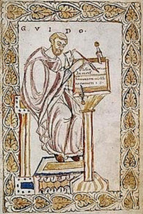 Guido of Arezzo. ( Public Domain )