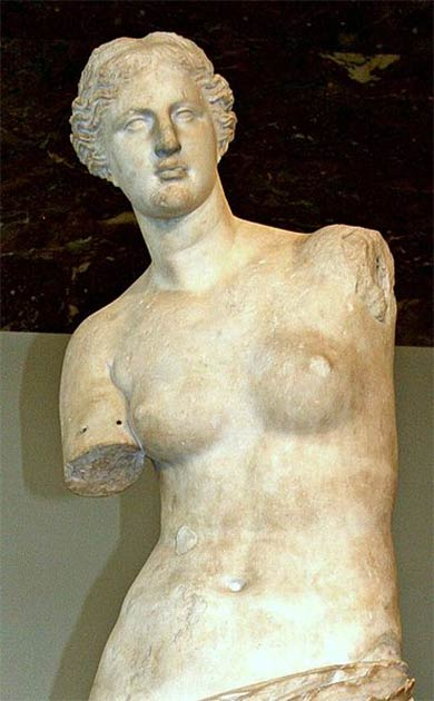 Venus di Milo or Aphrodite of Milos (the Greek goddess of love) is one of the most famous Greek sculptures (CC BY 2.0)