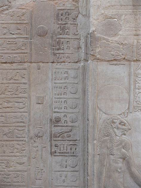 Ancient Egyptians created advanced solar and lunar calendars. This calendar, found in Kom Ombo Temple, shows hieroglyphics for particular days of the month. (Ad Meskens / CC BY-SA)