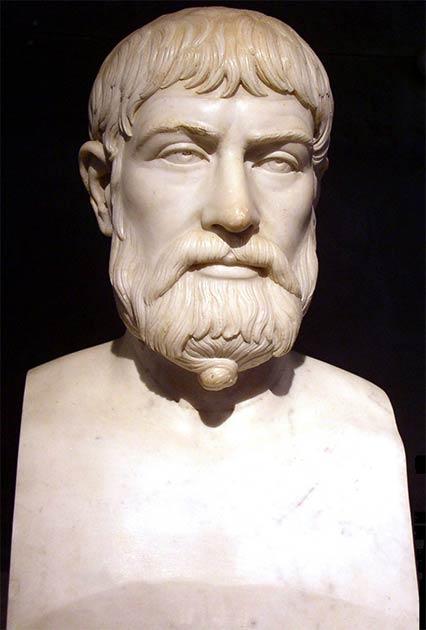 Bust of the lyric Roman poet Pindar whose poems mention Hyperborea (Stas Kozlovsky / CC BY-SA 3.0)