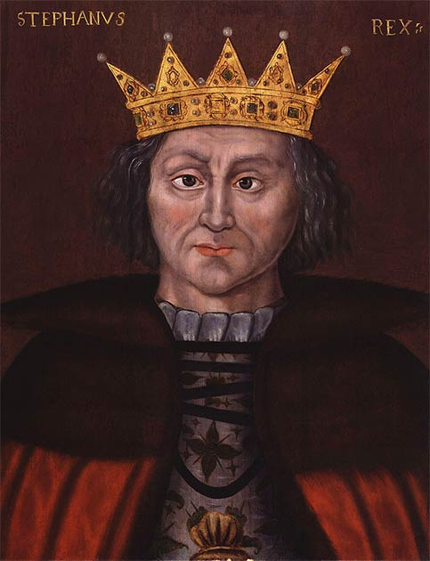 Count Stephen of Blois seizes the throne and is proclaimed King of England. He was supported by his brother, Henry of Blois, Bishop of Winchester, the second richest man in England. (National Portrait Gallery / Public domain)