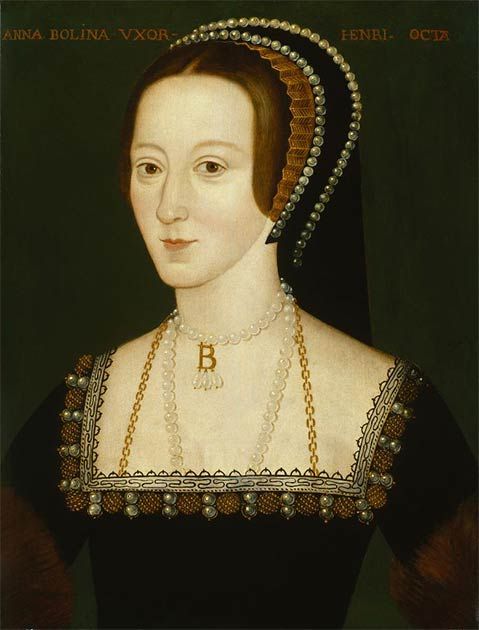 Portrait of Anne Boleyn probably based on a contemporary portrait which no longer survives. (Public Domain)
