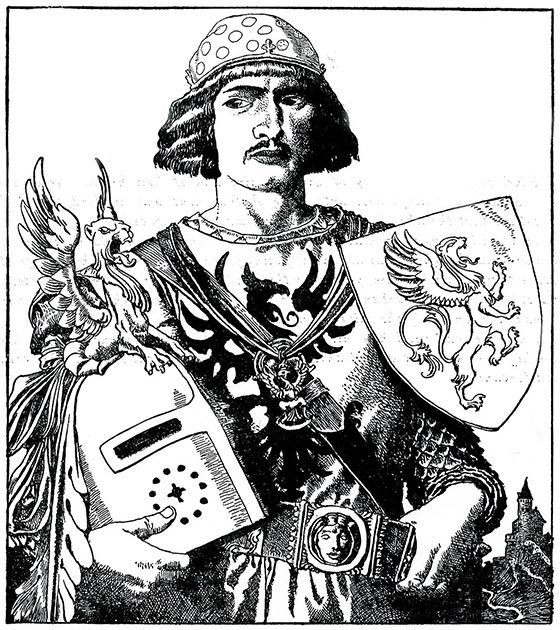 Depiction of Sir Gawain, from The Story of King Arthur and His Knights. (Howard Pyle / Public domain)