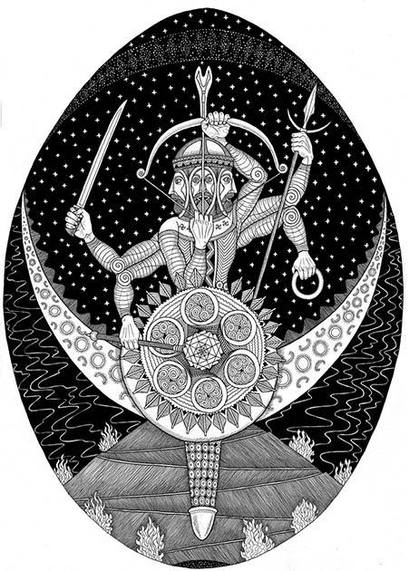The sun-god Dabog: the Slavic blacksmith god and lord of the heavens. Dabog was the son of Svarog. (Mhapon / CC BY-SA 4.0)