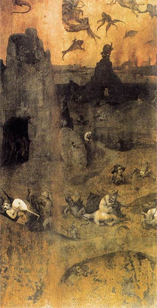 This famous painting by Hieronymus Bosch shows fallen angels that are said to be a reference to the Nephalim / Anakim giants that preceded the Canaanites in the Levant. (Hieronymus Bosch / Public domain)