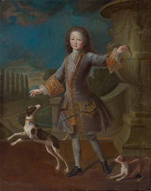 Right: As a boy, Louis XV is also said to have had a whipping boy. (Public domain)
