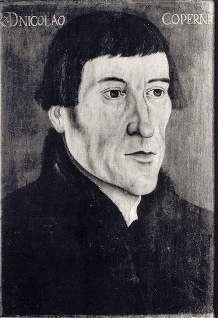 A photographic copy of a mid-16th-century AD portrait of Nicolaus Copernicus by an unknown painter. (Craigboy / Public domain)