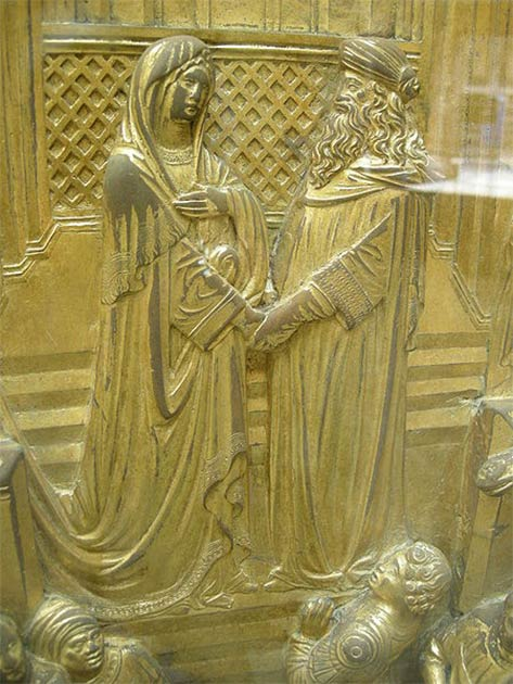 Solomon and the Queen of Sheba (Gates of Paradise). (Sailko/CC BY 2.5)