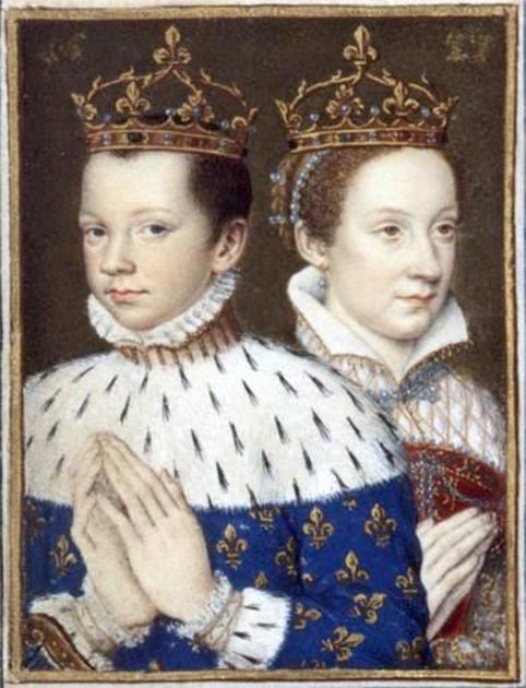 Francis II, King of France, and his wife, Mary Stewart, Queen of France and of Scotland, circa 1558. (Public Domain)