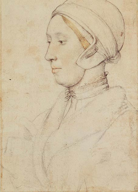 Possible drawing of Anne Boleyn by Hans Holbein the Younger. (Public Domain)