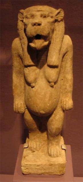 The hippopotamus goddess Tawaret. Was she the mysterious goddess revered by Sobekneferu? Credit: Wiki Commons Agreement, 2020.
