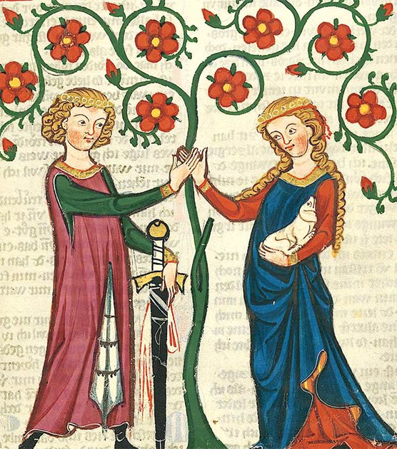 Lovers in the Codex Manesse. (Public domain)