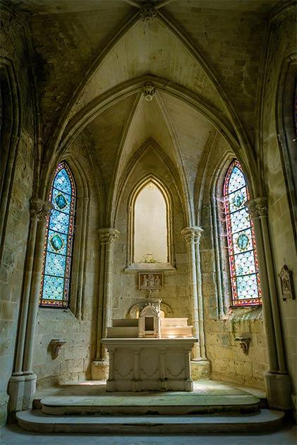 The old Chapel of the Château de la Mothe-Chandeniers. (Stephane Debove / Adobe Stock)