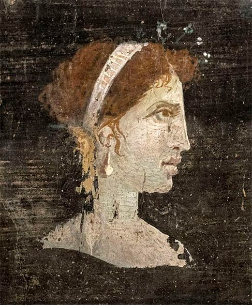 A posthumous painted portrait of Cleopatra VII of Ptolemaic Egypt from Roman Herculaneum, made during the 1st century AD, i.e. before the destruction of Herculaneum by the volcanic eruption of Mount Vesuvius. (Ángel M. Felicísimo/CC BY 2.0)