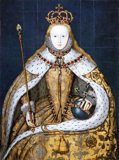 Queen Elizabeth I of England in her coronation robes. (Public Domain)