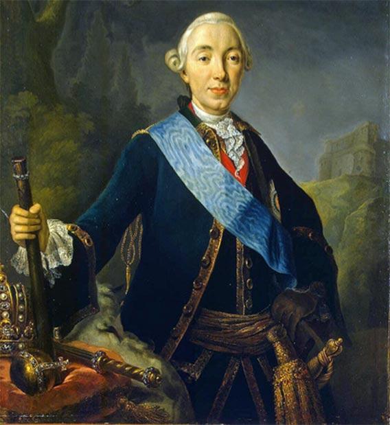 Coronation portrait of Peter III by Lucas Conrad Pfandzelt (Public Domain)