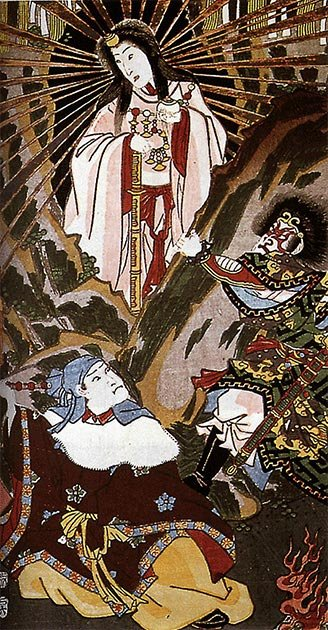 Amaterasu, one of the central kami in the Shinto faith. (Utagawa Kunisada / Public domain)