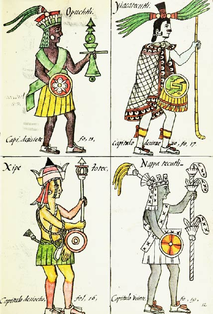 Aztec Gods in the Florentine Codex. (Gary Francisco Keller/CC BY 3.0)