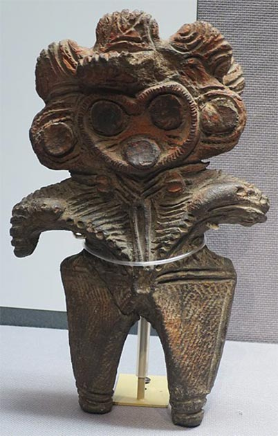 Dogū (clay figure), Jomon period, 7000-400 BC, Tokyo National Museum. (CC0)