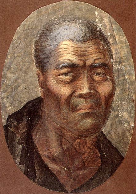 Watercolor of King Kamehameha I by Louis Choris. (Public domain)