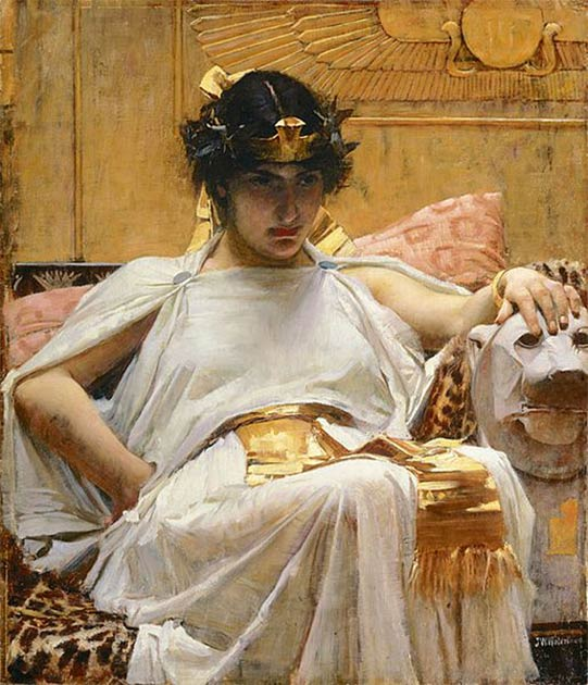 'Cleopatra' (1888) by John William Waterhouse. (Public Domain) Cleopatra is one of the most famous queens in history.