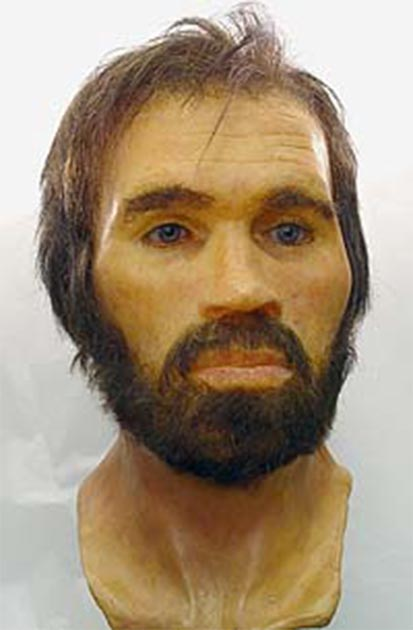 The reconstructed face of Lindow Man. (Nev1 / Fair Use)