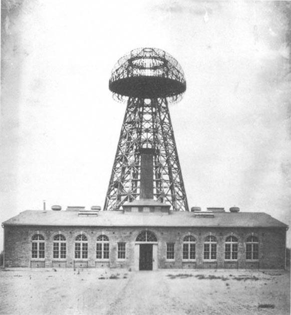 Nikola Tesla's Wardenclyffe wireless station, located in Shoreham, New York, seen in 1904. (Unknown / Public domain)