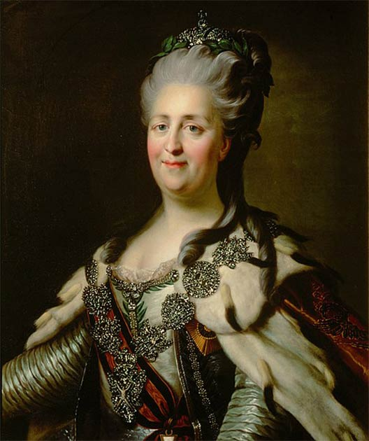 Catherine the Great of Russia (1729-1796) dictated life in prison for Darya Saltykova at the Ivanovski Convent in Moscow. (Public domain)