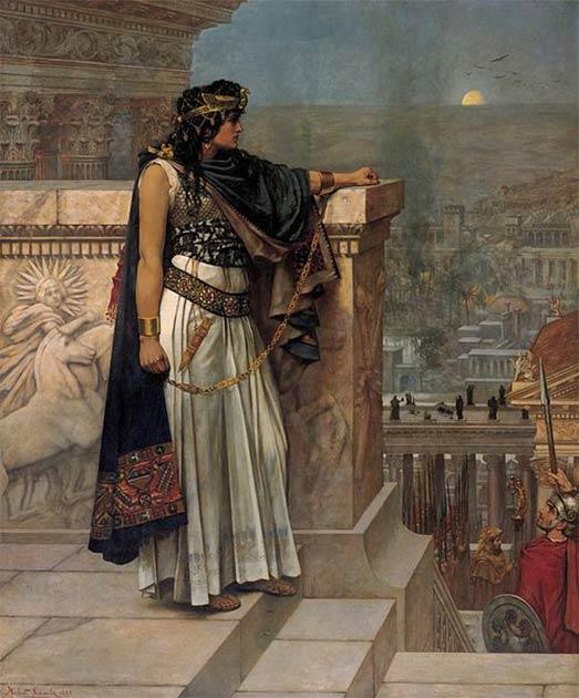 'Queen Zenobia's Last Look Upon Palmyra' (1888) by Herbert Gustave Schmalz. (Public Domain)