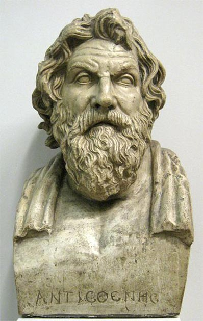 Antisthenes, the father of philosophical Cynicism. Cast in Pushkin museum. (shako/CC BY SA 3.0)