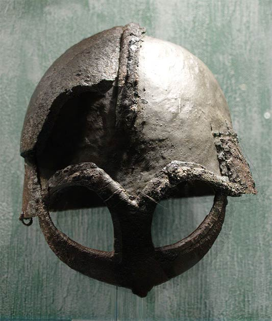 Example of a Viking 'spectacle' helmet. (Jeblad / CC BY-SA 3.0)