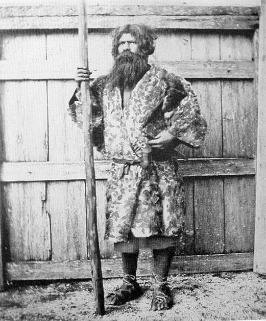 An Ainu man, one of Hokkaido's indigenous people. (Public Domain)
