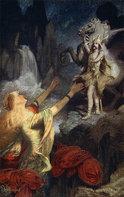 'Helgi Hundingsbane returns to Valhalla.' (Public Domain)