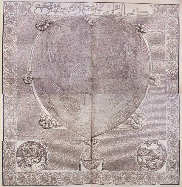 Hadji Ahmed's world map, 1559. (Public Domain)
