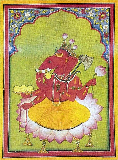 The Hindu god Ganesh, the god of new beginnings, is one of the most worshipped of Hindu deities. (Public domain)