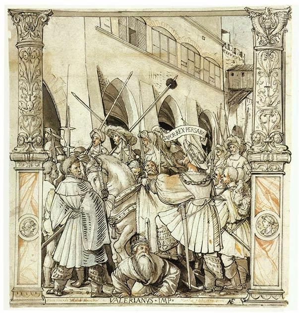La humillación del emperador Valeriano por el rey persa Shapur. (Dominio público)