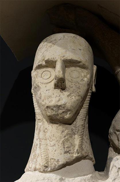 Head of one of the Mont'e Prama Giants. (spritz77 /Adobe Stock)