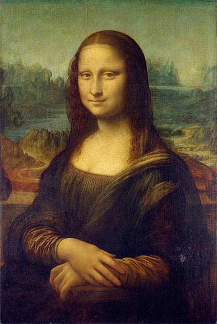 The golden ratio is discernible in artworks such as Leonardo's Mona Lisa. (Public domain)